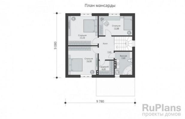 Дом 11,31 x 9,78